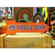 アメリカンブリキ看板 War Eagle Auburn 道標