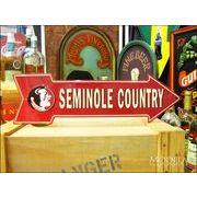 アメリカンブリキ看板 Seminole/セミノール 道標