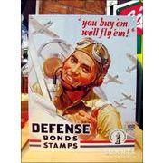 アメリカンブリキ看板 戦時中アメリカ国債の看板