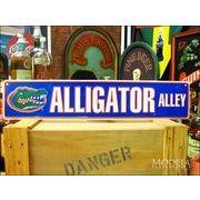 アメリカンブリキ看板 Alligator Alley/ワニ場跡地