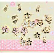 アンティークパーツ 桜チャーム さくらモチーフ 春のアクセサリー加工 単価9円より