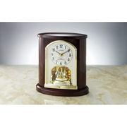 【代引不可】 シチズン 木枠電波置時計 目覚まし時計