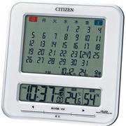 【代引不可】 シチズン マンスリーカレンダー電波目覚まし時計 目覚まし時計
