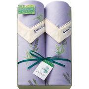 【代引不可】 グリーンレーベル・ファブリックス 四方衿付フリース毛布2枚セット 寝具