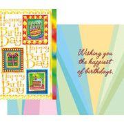 Stockwell Greetings グリーティングカード バースデー ケーキ×プレゼント