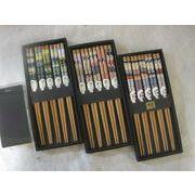 浮世絵の箸 5膳セット  竹製