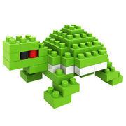 格安☆子供も大人もハマるブロック◆ホビー・ゲーム◆ブロックおもちゃ◆小さい◆積み木◆知育玩具◆カメ