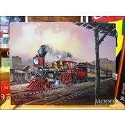 アメリカンブリキ看板 昔の蒸気機関車 -#82 ローリンスルー-