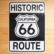 看板/プラスチックサインボード ヒストリックルート66 Historic Route 66 CA-30
