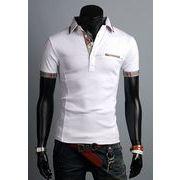 半袖ポロシャツ メンズ チェック 2色 100739
