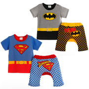 格安!!80-90-95セット★ベビー★幼児★スター★スーパーマン★バットマン★Tシャツ+半ズボン