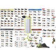売れ筋サングラス90個アソートスターターセット【90個掛け回転式ディスプレイ付き】(No.2A)