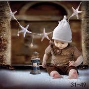格安☆撮影写真★0-1歳★幼児★タッセル★ニット★帽子+シャツ+半ズボン★セット