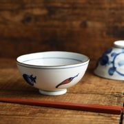 【特価品】唐辛子 11.6cmご飯茶わん[B品][有田焼]