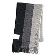 Calvin Klein �J���o���N���C�� OMBRE RASCHEL MUFFLER �}�t���[ �u���b�N/�O���[ 77302