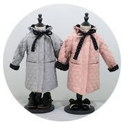 秋冬 韓国式 綿入れ コート 冬物 女の子 キッズ 子供服 蝶結び 長袖 ジュニア 2色
