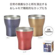 【ノベルティ】真空ステンレスカラフルカップ250ml