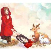 可愛い コート クリスマス衣装 レッド 赤い 花