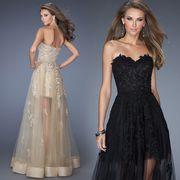 ファスナータイプ トレーン ドレス 豪華なウエディングドレス 二次会 ロング 刺繍 ビスチェドレス