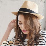 【【SALE】】◆UV紫外線対策。中折れストローハット/麦わら帽子/雑貨/小物◆420180