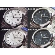 Lugano(ルガノ)ユニセックス腕時計 メタルウォッチ 日本製ムーブメント カレンダー表示 5気圧防水