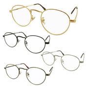 【TY802】ボストンタイプ★メタル伊達メガネ【4色展開♪♪】 丸メガネ/眼鏡/まんまる/まるめがね