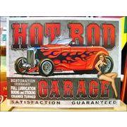 アメリカンブリキ看板 ホットロッド/Hot Rod Garage