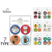 Seltzer Circle Magnets CAFE TYPE  13579