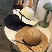新作★手織り麦わら帽子★レディースUV対策★麦藁帽子★オシャレ★UVカット!5色あり