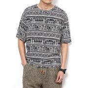 ネイティブ柄 半袖Tシャツ 100838