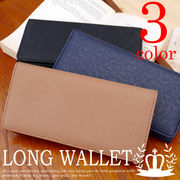 長財布 札入れ ファスナー 小銭入れ レザー調型押し メンズ 財布◆A-005-22