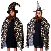 【1.2m大人用】ハロウィン cosplay着物 ハロウィン雑貨 ハロウィン服 カボチャ図案マント