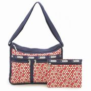 LeSportsac 7507 D842 Travel Daisy Red �f���b�N�X�G�u���f�C�o�b�O Deluxe Everyday Bag  ���f�B�[�X �c