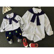 新品★トップス★子供服★長袖 ストライプ シャツ