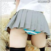 ■送料無料■超ミニ無地プリーツスカート単品 色:無地グレー サイズ:M/BIG