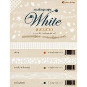 ROUNDTOP yano design White autumn マスキングテープ 3柄【2016_10_03より】