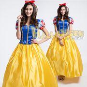 【即日発送】ロング丈ドレス 白雪姫コスチューム 大きいサイズあり ハロウィン衣装【4906/2】