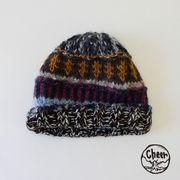 【SALE】【秋冬新作】[ニット帽]コロリート パッチワーク CAP
