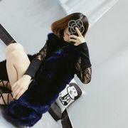 レディース 毛皮ベスト ファーベスト ファー付き チョッキ 袖なし アウター 7色