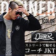 【DIVINER】コーチジャケット/メンズ トップス 秋冬 ストリート 黒 ブラック アウター ジャケット