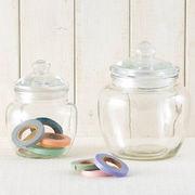 【手作り雑貨】グラスジャー プレーン Glass jar plain◆ガラス容器/瓶