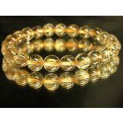 透明感抜群!現品一点限り!金針水晶タイチンルチル8ミリ数珠ブレスレット!R135