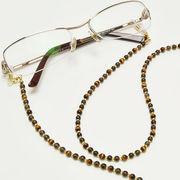 タイガーアイ×スモーキークォーツ メガネチェーン 眼鏡チェーン グラスコード