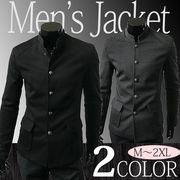 ジャケット メンズ コート スタンドカラー ビジネス スーツ お兄系 コーディネート 紳士服