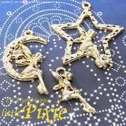 "★L&A Original Parts★Gold★かわいい妖精チャーム♪146 ""little pixie"""