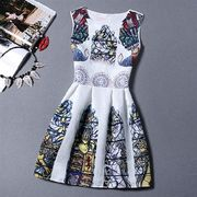 【即納】04849243 スプリングファッション♪レトロ♪ホワイトワンピ