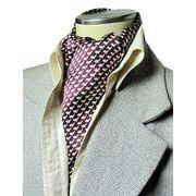 エレガント袋縫いリトルドルフィン柄メンズ用100%シルクスカーフ 1139
