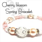 天然石 桜色 spring デザインブレスレット 3nd 《SION パワーストーン 天然石》