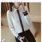 Rinaシリーズ★新しいデザイン★女性服★韓国風★気質★ラペル★ヒットカラー★ストライプ