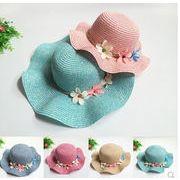 夏新型★韓国風★キッズ麦わら帽子★日除け帽★親子帽子